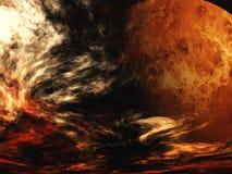 повреждает планету Стоковое Изображение