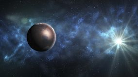 повреждает солнечную систему Это четвертая планета от Солнця повреждает Стоковое Изображение