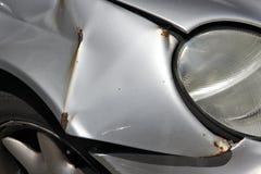 Повреждение автомобиля unrepaired стоковое изображение rf