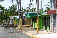 Повреждение Марии урагана в Пуэрто-Рико Стоковая Фотография RF