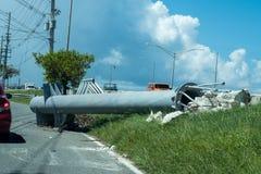 Повреждение Марии урагана в Сан-Хуане Пуэрто-Рико Стоковые Фотографии RF