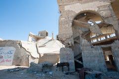 Повреждение от израильского бомбометания в Газа стоковая фотография