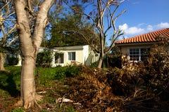 Повреждение структуры должное к урагану Ирме Стоковая Фотография RF
