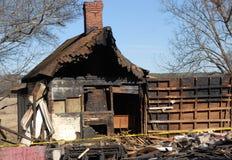 поврежденная дом пожара Стоковая Фотография RF