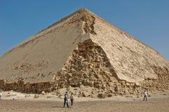 поврежденная египетская пирамидка Стоковая Фотография