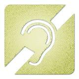 поврежденная икона слуха стоковые фотографии rf