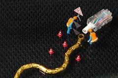 Поврежденная сцена кабеля lan Стоковое фото RF