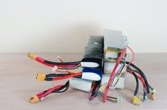 Поврежденные & опасные опухнутые батареи полимера лития Стоковые Фото