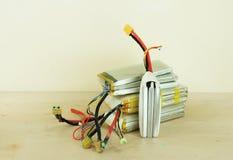 Поврежденные & опасные опухнутые батареи полимера лития Стоковое Фото