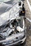 Поврежденный автомобиль после окна сломанного аварией Стоковая Фотография RF