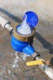 Поврежденный счетчик воды Стоковое фото RF