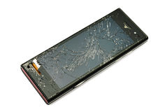 поврежденный телефон франтовской Стоковые Фотографии RF