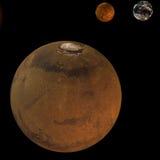 повреждает солнечную систему Стоковая Фотография