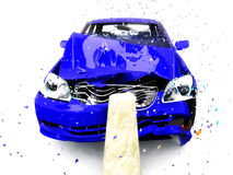 повреждение автомобиля Стоковое Изображение