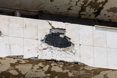 Повреждение артиллерии Стоковое Изображение