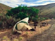 Повреждение ветра шатра в центральном Орегоне Стоковое фото RF