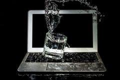 Повреждение воды компьтер-книжки Стоковое фото RF