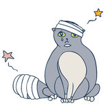 Повреждение кота иллюстрация штока