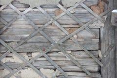 Поврежденная стена крупного плана дома Стоковое Изображение RF