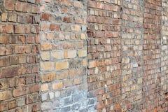 Поврежденная текстура кирпичной стены Стоковое Изображение