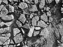 Поврежденная текстура blacktop Стоковая Фотография RF