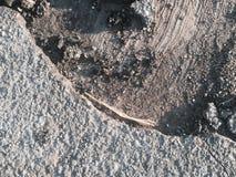 Поврежденная текстура blacktop Стоковое фото RF