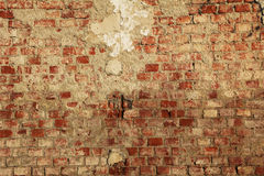 Поврежденное старое красное brickwall Стоковая Фотография RF