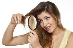 поврежденные волосы стоковое фото
