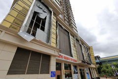 поврежденные здания Стоковая Фотография