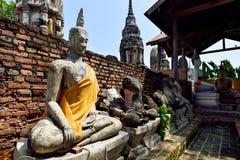 Поврежденные статуи Будды Стоковая Фотография