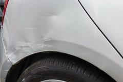 Поврежденный задний бампер стоковая фотография