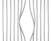 Поврежденный переплетенный бар тюрьмы изолированным иллюстрация вектора