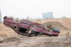 Поврежденный поворот автомобиля Стоковые Фото