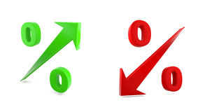 Повсюду тариф процентов Стоковые Изображения RF
