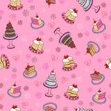 повторение картины тортов причудливое безшовное бесплатная иллюстрация