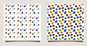 Повторение плитки с силуэтами различных крон, точки, волшебные ручки Смешная иллюстрация вектора бесплатная иллюстрация