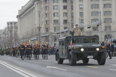 Повторение для румынского парада национального праздника Стоковое Изображение