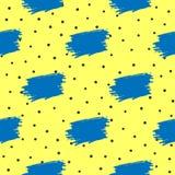 Повторенные скачками ходы точки и щетки польки Отклоняет безшовная картина нарисованная вручную иллюстрация вектора
