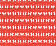 Повторите красный геометрический конспект, предпосылку w письма стоковое фото