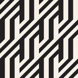Повторять наклоненную текстуру нашивок современную Monochrome геометрическая безшовная картина Стоковые Изображения RF
