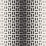 Повторять полутоновое изображение прямоугольника Современная геометрическая текстура решетки Картина вектора безшовная monochrome иллюстрация вектора