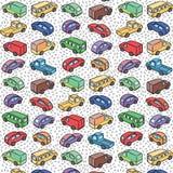 Повторяющийся картина с автомобилями перехода Стоковые Изображения RF
