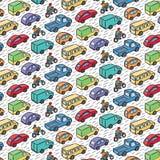 Повторяющийся картина с автомобилями перехода Стоковые Фото