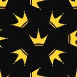 Повторяющийся кроны потехи со звездами E Стильная печать бесплатная иллюстрация