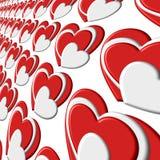 Повторяющийся слой сердца картины пузыря Стоковое Фото