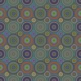 Повторяющ картину мозаики круга - предпосылку вектора Стоковые Изображения