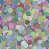 Повторяющ картину предпосылки точки - дизайн векторной графики от пестротканых кругов с влиянием тени Стоковое Фото