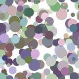 Повторяющ хаотическую картину предпосылки точки - vector дизайн от кругов в красочных тонах Стоковые Изображения