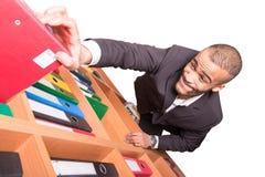 Повышение бизнесмена до archieve цель стоковые изображения rf