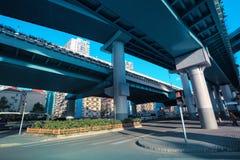 Повышенная скоростная дорога в Шанхае стоковое фото rf